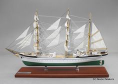 "24"" (hull length) Tall Ship Model – Gorch Fock. SD Model Makers offers museum quality tall ship models  in ANY size or scale. www.sdmodelmakers.com"