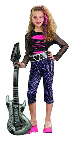 Rock star outfits for girls girls tutu rock star costume kids rubies rock star childs costume large startling review available here kids solutioingenieria Image collections