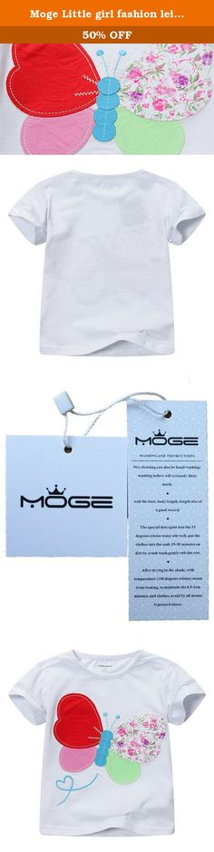 """Moge Little girl fashion leisure color butterfly short sleeve T-shirt. Product Information Brand name: Moge Package: 1 * T-shirt Wash: dry cleaning,washing machine,Hand wash Style: Casual fashion Return Policy: Customers receive damaged, defective products, please first time to take pictures, save pictures, contact us. We have received e-mail will help you be exchanged. Or product have size problem, we can be exchanged. Product Size 18month(80cm=31.4inch)-----Shoulder 9.8""""------Bust..."""