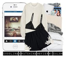 """""""Cuddling & Watching Movies w/ Calum"""" by heartles ❤ liked on Polyvore featuring philosophy, Bobbi Brown Cosmetics, CB2, Friends With Benefits, Casetify, Hamam, Luxor Treasures, STELLA McCARTNEY and Monki"""