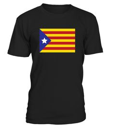 """CHECK OUT OTHER AWESOME DESIGNS HERE!    Independence for Catalunya T Shirt, Barcelona and Catalan Independence Flag T shirt. Freedom for Catalonia from Spain. """"Catalunya: WE ARE A COUNTRY"""" """"L'Estelada Blava"""" """"Som una Nacio"""".   T-shirts run small; please order a size larger than typical. Comes in black or Gray."""