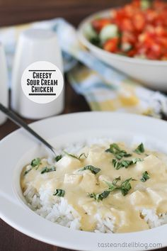 Cheesy Sour Cream Chicken on Taste and Tell