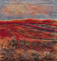 Stitchery paintings by Julie Crabtree Pfannes - Beauty will save Thread Art, Thread Painting, Fabric Painting, Fabric Art, Fabric Crafts, Textile Fiber Art, Textile Artists, Creative Embroidery, Embroidery Art