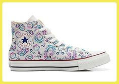 Converse All Star Hi Customized personalisierte Schuhe (Handwerk Schuhe) Watercolor size 46 EU - Sneakers für frauen (*Partner-Link)