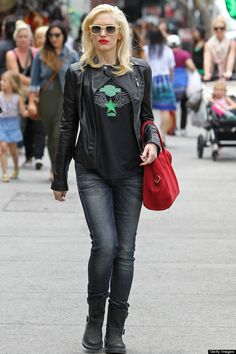 Gwen Stefani Dark Brown Leather Jacket