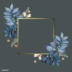 Empty floral frame design vector free image by wan Frame Floral, Rose Frame, Flower Frame, Cadre Design, Tableau Design, Flower Backgrounds, Wallpaper Backgrounds, Colorful Backgrounds, Wallpaper Ideas