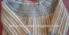 NUNCA había tejido un jubón con vueltas acortadas en el canesú, ahora llegó la ocasión y he creado este modelo con 2 filas de ochitos c... Knitting For Kids, Crochet For Kids, Easy Crochet, Knitting Projects, Baby Knitting, Knit Crochet, Jumper Patterns, Knitting Patterns, Princesa Charlotte
