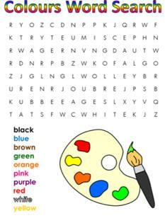 Colors word search - MORE> https://au.pinterest.com/leannedltk/printable-word-search-puzzles/