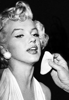 "Whitey Snyder, touching up Marilyn  on the set of ""The Seven Year Itch"" 1955"