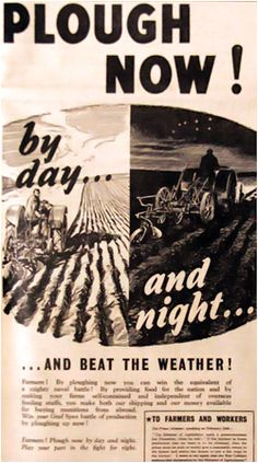 day and night ploughing. Dig For Victory, Women's Land Army, Victorian History, Land Girls, Victory Garden, Ranch Life, Down On The Farm, Outdoor Survival, Women In History