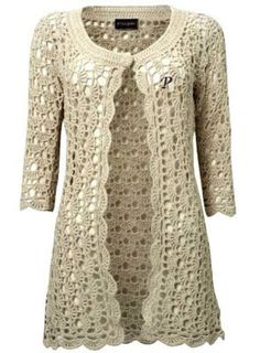 Learn how to make this beautiful coat of crochet - Free Crochet Patterns                                                                                                                                                                                 More