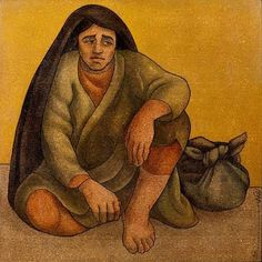Seated Woman - Louay Kayali