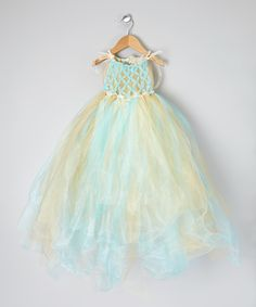 Blue & Gold Mermaid Tutu Dress - Toddler & Girls | Daily deals for moms, babies and kids