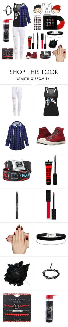 """""""Twenty One Pilots *Entry*"""" by literal-top-trash ❤ liked on Polyvore featuring Converse, Trish McEvoy, Gucci, Static Nails and Miss Selfridge"""