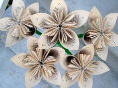 19 cute diy paper flower ideas to celebrate spring style paper flowers made from harry potter book pages mightylinksfo
