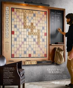 Best gift ever??  Giant Scrabble Wall, RH Source Books