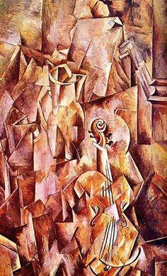 Violin and jug - Georges Braque 1910