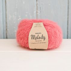Drops Melody wool and alpacacoral pink by Soulmadehome on Etsy