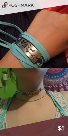 """NEW """"It is well with my soul"""" bracelet/choker Perfect condition Jewelry Bracelets"""