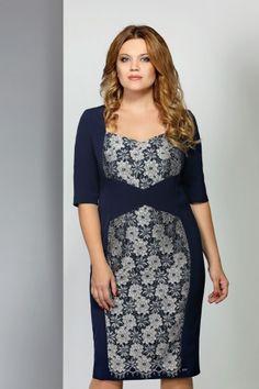 c5de2185861dc2f Одежда больших размеров · Платье с цветочным кружевным узором – купить в  интернет-магазине «L'MARKA»