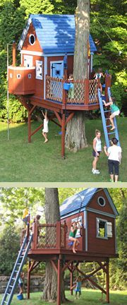 Outdoor playhouse plans by Barbara Butler Make it an art studio inside so crayons don't jump onto the walls inside