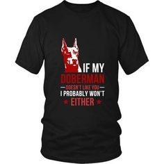 Make this awesome tee saying My Doberman Grandpa Grandma Dad Mom Boy Girl Lady Dog Dobie Pinscher Lover as a great gift Tee Shirts T-Shirts for yourself Doberman Training, Training Your Dog, Black And Tan Terrier, Doberman Pinscher Puppy, Beautiful Dogs, Amazing Dogs, Dog Life, I Love Dogs, Best Dogs