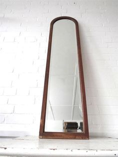 """extra large Art Deco mirror with wooden frame 50x12"""" $478"""