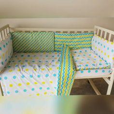 Home & Living Bedding Baby bedding set crib bedding baby shower gift crib bumper baby bed polka dot bedding chevron bedding yellow blue pattern baby blanket swaddle blanket new baby gift stroller blanket
