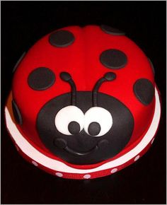 Creative Cakes by Lynn: Ladybug Cake & Cupcakes Ladybird Cake, Ladybug Cakes, Ladybug Birthday Cakes, Animal Cakes, Birthday Cake Girls, 2nd Birthday, Birthday Ideas, Specialty Cakes, Novelty Cakes