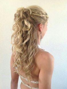 Gala hairstyle half loose - All For Bridal Hair Cute Girls Hairstyles, Braid Hairstyles, Long Hairstyles, Step By Step Hairstyles, Pretty Hairstyles, Wedding Hairstyles, Brown Blonde Hair, Hair Blog, Stylish Hair