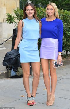 Friend in need is a friend indeed: Stephanie Pratt put her CBB romance behind her as she stepped out with former Made In Chelsea co-star Lucy Watson on Thursday evening