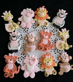 Jungle Animals Cake Toppers and Favors Assorted as shown, Great as Cake Toppers, Diaper Cake and Centerpieces decorations Approx. 2 '' Tall Perfect decorations for Jungle , safari and animal theme Par Jungle Party Favors, Safari Party Decorations, Safari Birthday Party, Baby Shower Decorations For Boys, Cake Decorations, Cake Centerpieces, Jungle Safari Cake, Jungle Theme Cakes, Safari Cakes