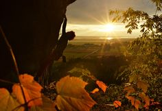 Max St-Jacques enjoys one of the last fall sunsets of the season while climbing in Gatineau, Que. Submitted by Matthew Usherwood Instagram @usherwoodm www.usherwoodphoto.com