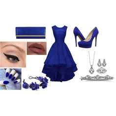 Prom outfit. Dark blue edition - Polyvore