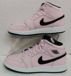 82779b12557 Air Jordan 1 Mid (GS) Pink foam Black-White 555112 601 Youth s Size   fashion  clothing  shoes  accessories  kidsclothingshoesaccs  boysshoes  (ebay link)