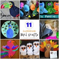 11 Awesome Bird Crafts for Kids from I Heart Crafty Things