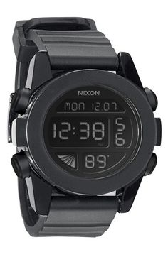Nixon 'The Unit' Round Digital Watch, 44mm available at #Nordstrom. I would TOTALLY rock this!!!!!
