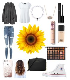 """Untitled #93"" by ashlyn7193 on Polyvore featuring Kofta, Lands' End, Topshop, Converse, Kendra Scott, Chanel, Casetify, MAC Cosmetics, MICHAEL Michael Kors and plus size clothing"
