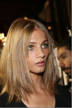 Dark blonde hair  Anna Selezneva