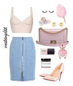 """""""Untitled #88"""" by madeingoldd ❤ liked on Polyvore featuring Vilshenko, Chanel, Marc Jacobs, Fig+Yarrow, NARS Cosmetics, Christian Louboutin and Steve J & Yoni P"""