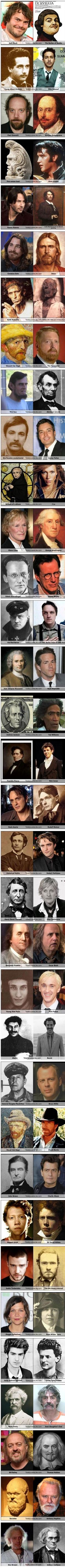 Celebrity Look a Likes . . .  http://gloriousmind.com/funny-celebrities-historical-look-alikes/
