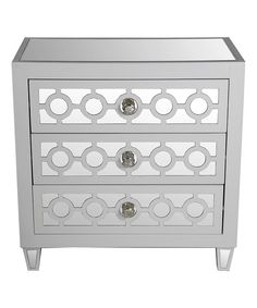 Look at this Gray Three-Drawer Accent Table on #zulily today!