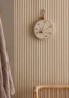 Saimaa sauna thermometer for Aarikka / Design by Studio Finna