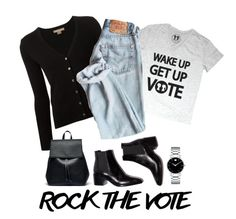 """Rock the Vote"" by terry-tlc ❤ liked on Polyvore featuring Michael Kors, Sole Society, Movado and rockthevote"