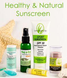 Healthy & Natural Lemongrass Spa Sunscreen www.ourlemongrassspa.com/kristenlyda