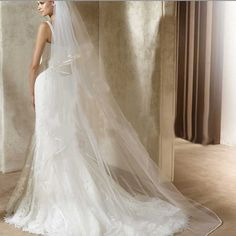 WEDDING BRIDAL BRIDES LONG WHITE/ OFF WHITE CATHEDRAL VEIL 2 Tiers 2.5M