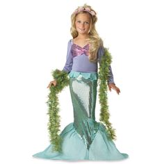 "Lil' Mermaid Toddler / Child Costume....would this one work, Bug?  Tuantie and I will send ""mermaid tail"" from Florida for Avery's b'day"