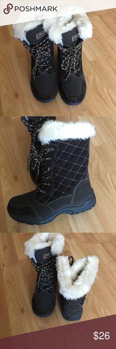 Alpine snow boots Alpine brown snow boots alpine design Shoes Winter & Rain Boots