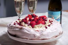 Rosewater Pavlova - tip: to stop the baking paper moving on the tray, use a dab of the Pav mix in the corners to glue the paper to the tray. Also, draw a circle on the paper if you want the Pav to fit a certain size display plate. Emma Dean, Muffins, Pistachio Cream, My Market, Rose Water, Pavlova, Different Recipes, Recipe Using, All Things Christmas