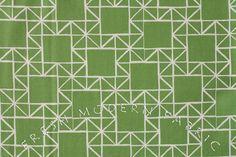 Half Yard Quilt Blocks Stars in Marine Green by FreshModernFabric
